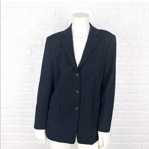 J Crew Womens Blazer Jacket Size Tall 6 Black Wool